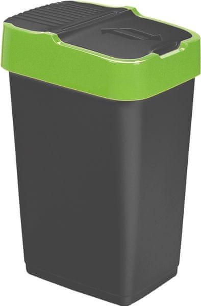 Heidrun Odpadkový koš 18 l, černý