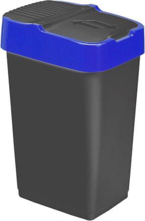 Heidrun koš za smeti, 60 l, črn/moder
