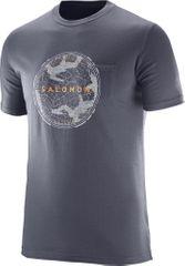 Salomon moška majica Crest Pocket Ss, siva