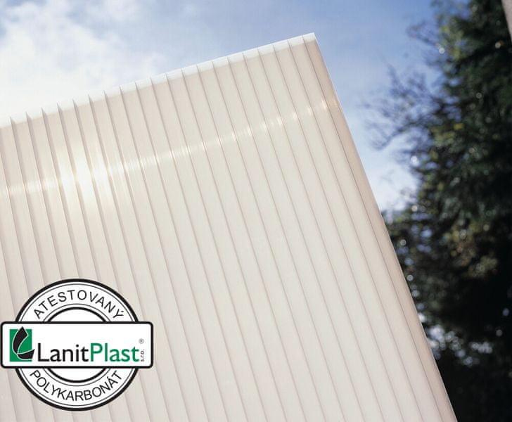 LanitPlast Polykarbonát komůrkový 10 mm opál - 4 stěny - 1,7 kg/m2 2,10x6 m
