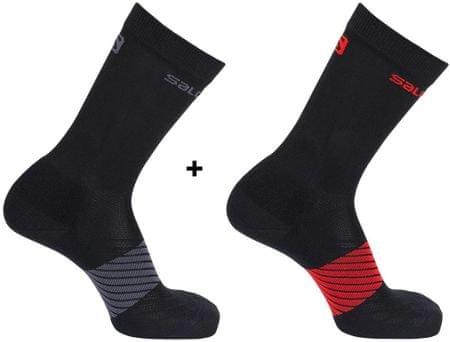 Salomon nogavice Xa, črne, 2 para, XL