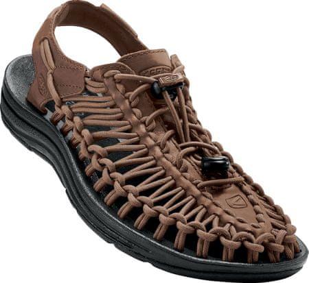 KEEN moški sandali Uneek Leather M, rjavi, 44.5