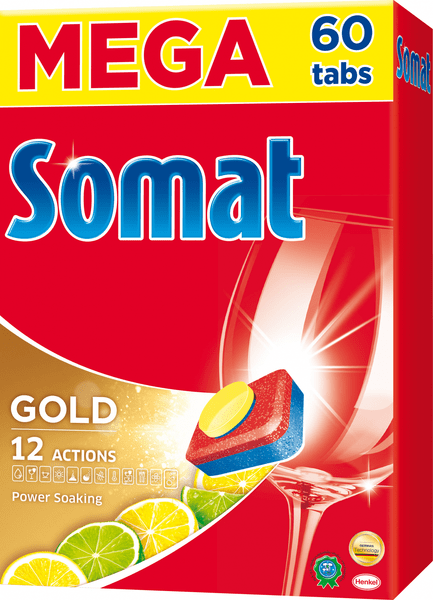 Somat Gold Lemon & Lime tablety do myčky 60 ks