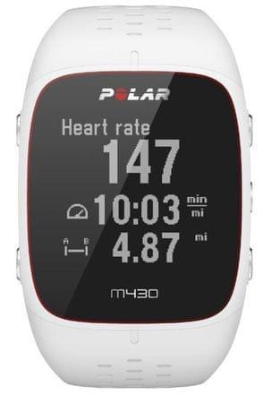 Polar športna ura m430, bela