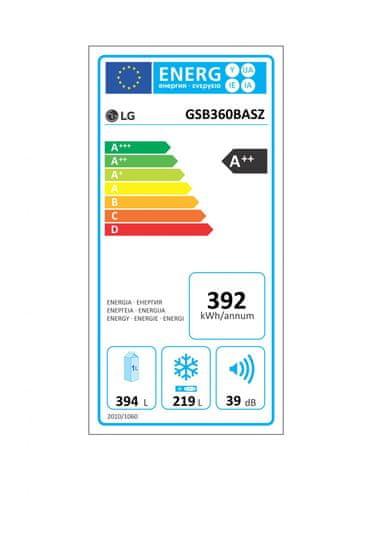 LG GSB360BASZ Amerikai hűtőszekrény