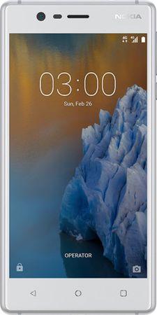 Nokia GSM telefon 3 Dual Sim, srebrn
