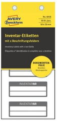 Avery Zweckform etikete za označavanje inventara, NoPeel, crni rub, 50x20 mm, 6918