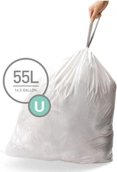 Simplehuman Sáčky do koše typ U (55 l) 60 ks