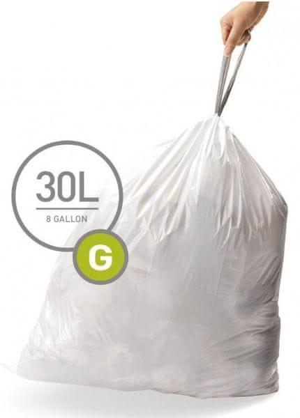 Simplehuman Sáčky do koše typ G (30 l) 100 ks