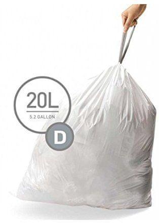 Simplehuman Sáčky do koše typ D (20 l) 60 ks