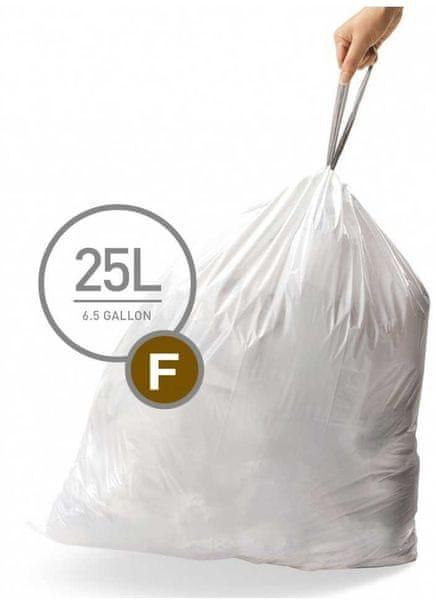 Simplehuman Sáčky do koše typ F (25 l) 60 ks