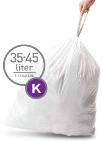 Simplehuman vreče za smeti tipa K (35 - 45 l), 60 kosov