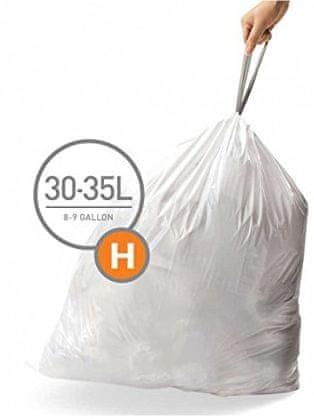Simplehuman Sáčky do koše typ H (30 - 35 l) 60 ks