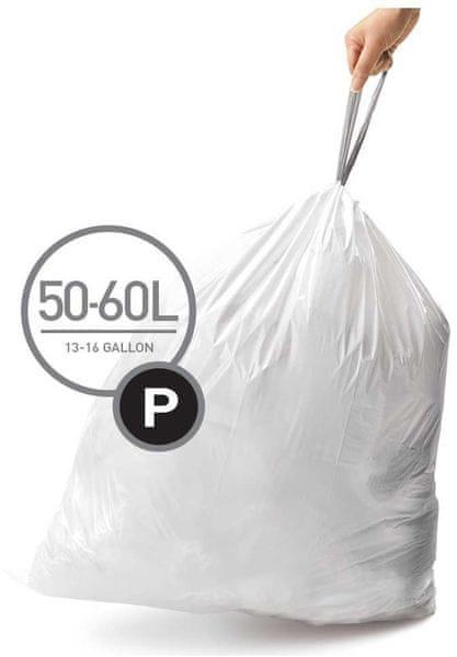Simplehuman Sáčky do koše typ P (50 - 60 l) 60 ks