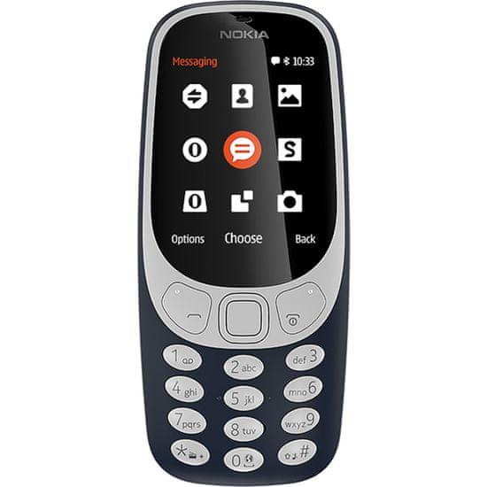 Nokia GSM telefon 3310 Dual Sim, moder - Odprta embalaža