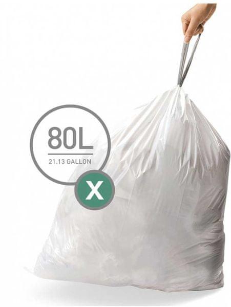 Simplehuman Sáčky do koše typ X (80 l) 60 ks