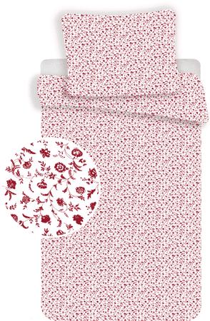 Jerry Fabrics posteljnina Red Flowers