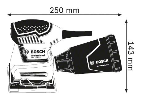 BOSCH Professional vibrační bruska GSS 140-1 A Professional 06012A2100