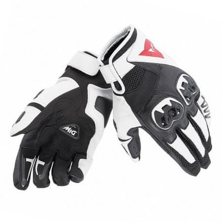 Dainese kožené moto rukavice  MIG C2 UNISEX vel.L čierna/biela/čierna