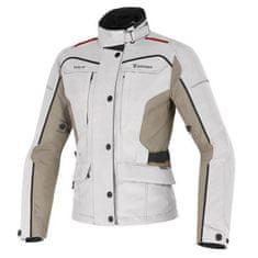 Dainese dámská motocyklová bunda  ZIMA LADY GORE-TEX světle šedá/béžová/červená