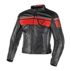 Dainese pánská kožená bunda na motorku  BLACKJACK černá/červená