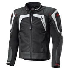 Held pánská sport moto bunda  HASHIRO černá/bílá, kůže/textil