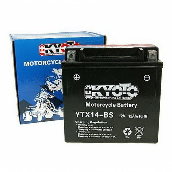 Baterie KYOTO 12V 12Ah YTX14-BS (dodáváno s kyselinovou náplní)