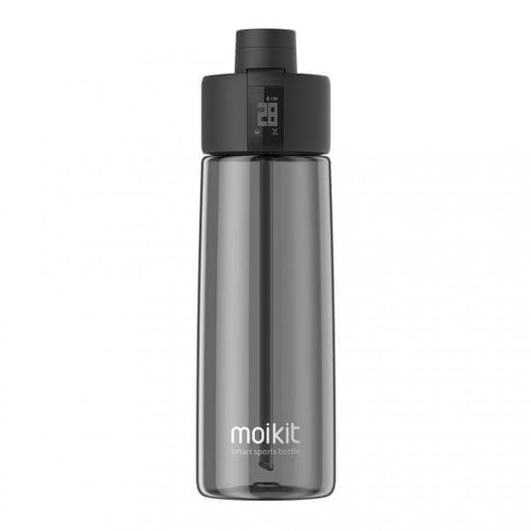 moikit Gene chytrá sportovní lahev 700 ml - černá