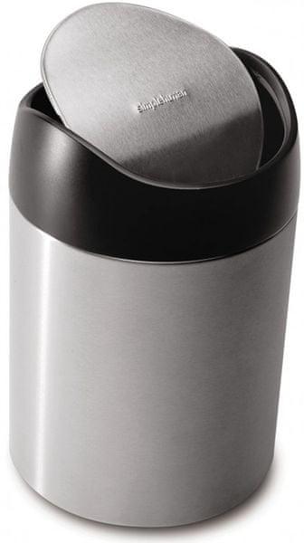 Simplehuman Odpadkový koš na stůl 1,5 l, stříbrná