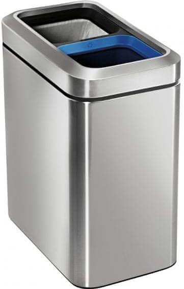 Simplehuman Odpadkový koš na tříděný odpad 10+10 l