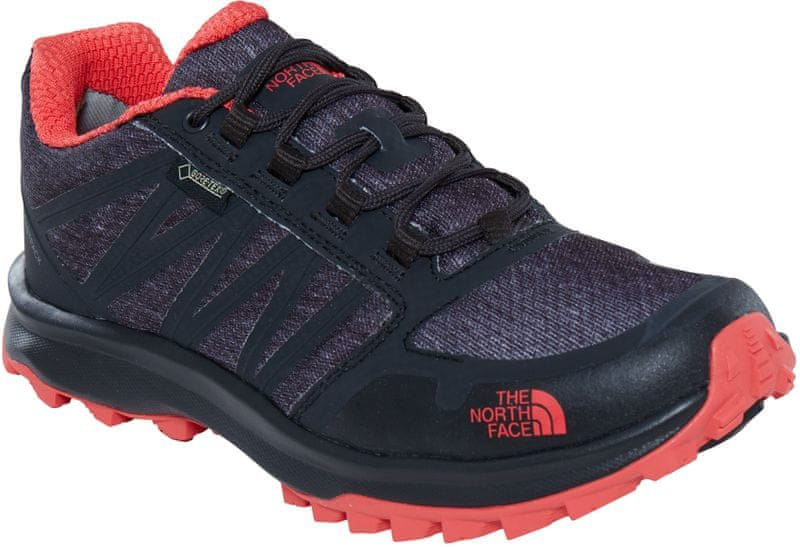 The North Face W Litewave Fastpack GTX Phantom grey heather print/Cayenne red 39