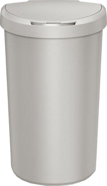 Simplehuman Bezdotykový odpadkový koš půlkulatý 40 l, světle šedý