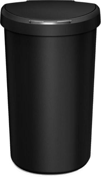 Simplehuman Bezdotykový odpadkový koš půlkulatý 40 l, černý
