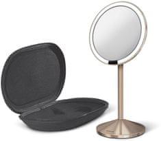 Simplehuman Senzorické kosmetické zrcátko cestovní s Tru-lux LED osvětlením, 10x zvětšení, rosegold
