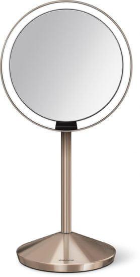 Simplehuman sensoryczne lustro ścienne z oświetleniem Tru-lux, 10-krotne powiększenie