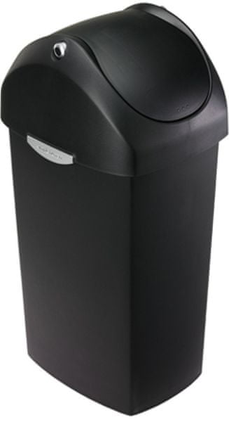 Simplehuman Odpadkový koš, houpací víko 60 l, černý