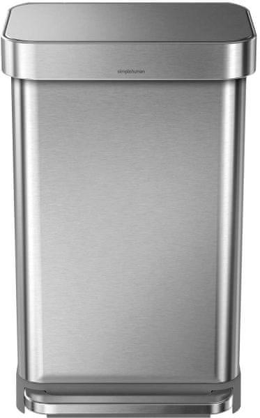 Simplehuman Pedálový odpadkový koš 45 l, stříbrný