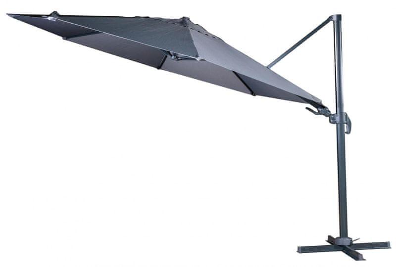 Myard Verona - boční slunečník 3,5 m, šédý