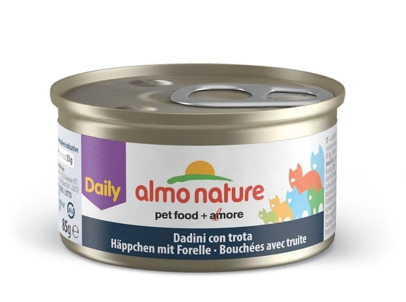 Almo Nature Daily Menu Kousky se pstruhem 24 x 85 g