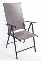 Myard krzesło ogrodowe SAN REMO, 2 szt, ciemnoszare