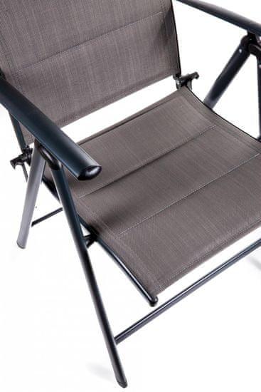 Myard SAN REMO 2 ks židle, tmavě šedá