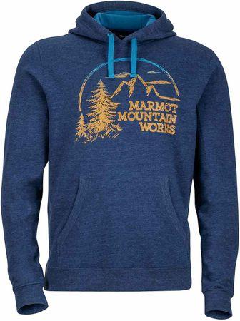 Marmot moška jopa Halation Hoody, modra, XL