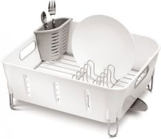 Simplehuman Odkapávač na nádobí Compact, bílá