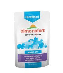 Almo Nature mačja hrana za sterilizirane mačke, 12 x 70 g