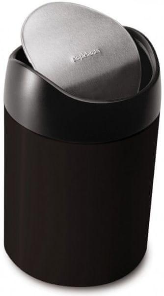 Simplehuman Odpadkový koš na stůl 1,5 l, černá