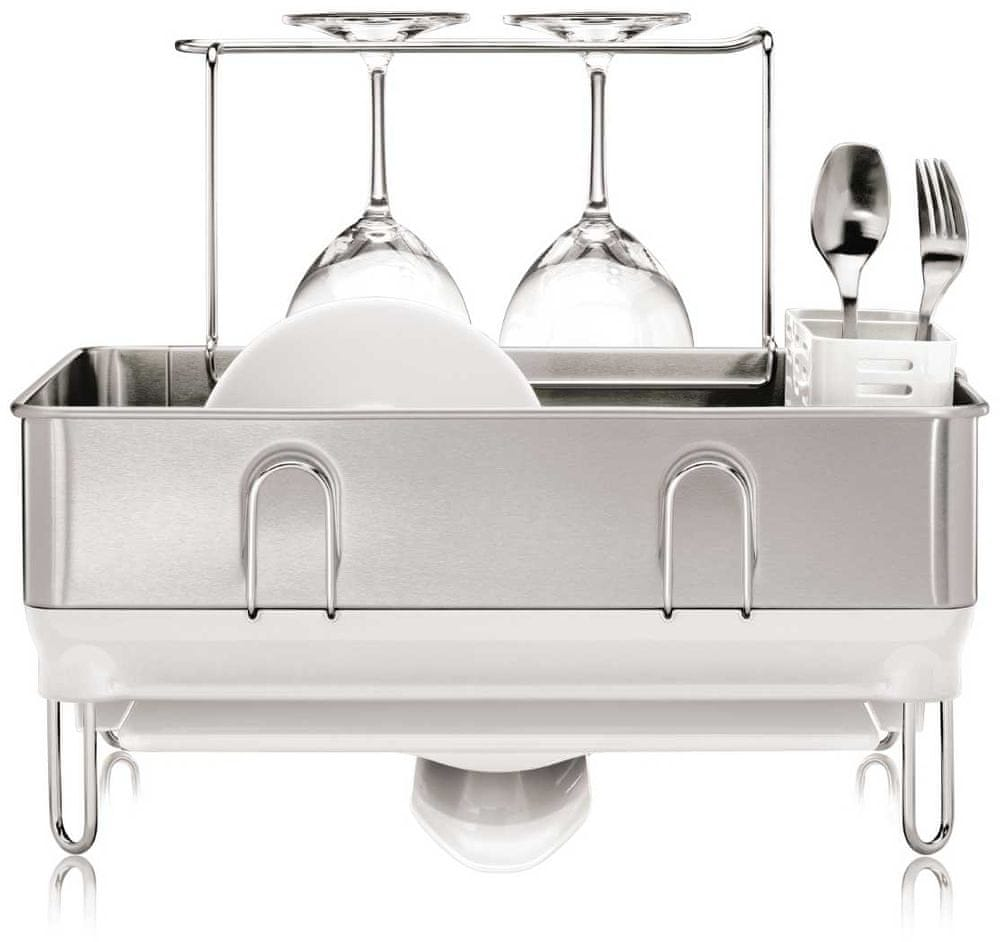 Simplehuman Odkapávač na nádobí, ocel/bílá