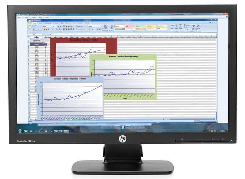 """HP P222va - LED monitor 22"""" (K7X30AA)"""