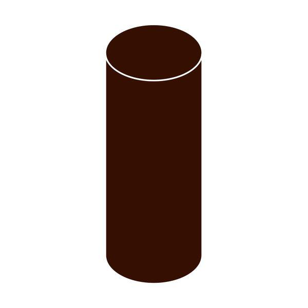 LanitPlast Svodová trubka s hrdlem DN 125 hnědá barva 3 m