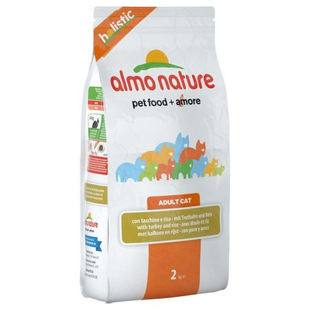Almo Nature karma Holistic DRY CAT Adult - indyk, ryż, 2 kg
