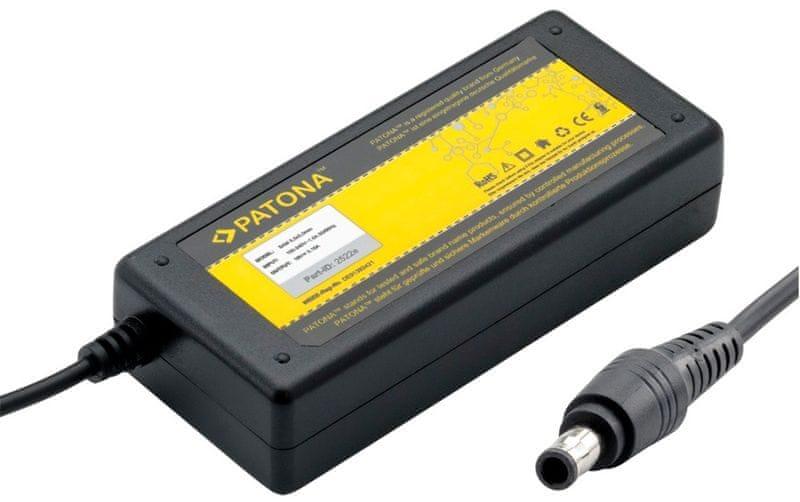 PATONA Napájecí adaptér pro Notebook (Samsung/5,5x3mm+pin konektor; 60W), černá